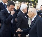 Giorgio Napolitano con Matteo Renzi