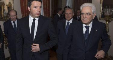 Matteo Renzi nella strettoia del reincarico