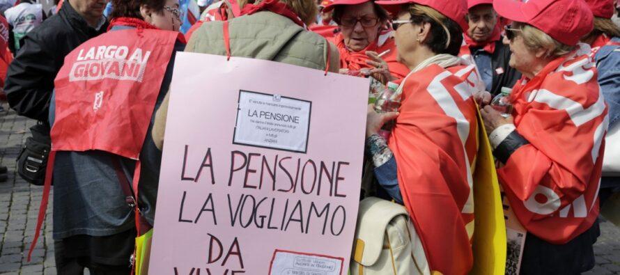 Tavolo sulle pensioni, solo briciole: per il governo solo un pensionando su 10