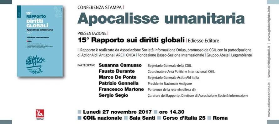 Roma, 27 novembre. Presentazione del 15° Rapporto sui diritti globali