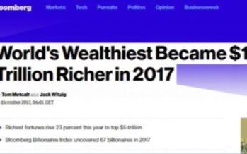 Bloomberg: I miliardari del mondo sono diventati più ricchi del 23% nel 2017