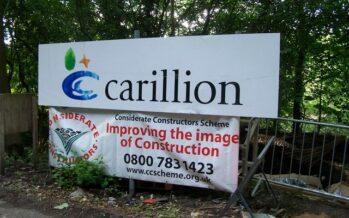 20 mila posti di lavoro persi con il crack dell'impresa inglese Carillion