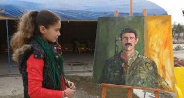"""Artists in Neim Square organised ''Art against war"""" exhibition"""
