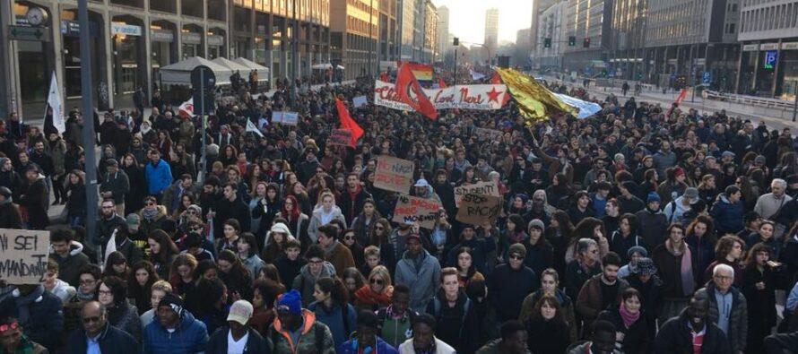 Anche a Milano ventimila manifestano contro fascismo e razzismo