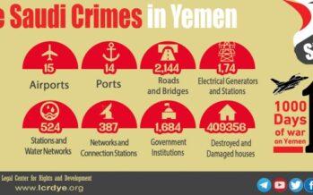 «Basta armi ai sauditi», l'appello di numerose organizzazioni