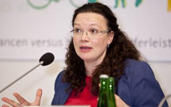 In Germania Andrea Nahles, prima donna eletta leader Spd, ma pochi i voti