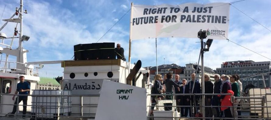 Una nave contro l'assedio di Gaza