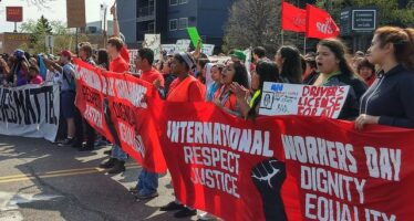 "MAY DAY USA. ""Teachers say education fight is a 'turning point'"""