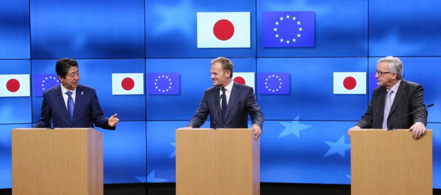 Il Jefta è realtà: Tokyo celebra l'Abenomics l'Ue «la libertà dei mercati»
