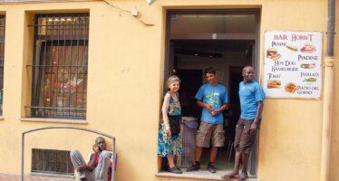 La Ventimiglia di Delia, al bar di Mama Africa
