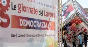"""Comincia a Lecce """"Democrazia è"""", le giornate del lavoro della Cgil"""