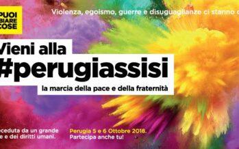 Marcia Perugia-Assisi, domani 25 chilometri per «restare umani»