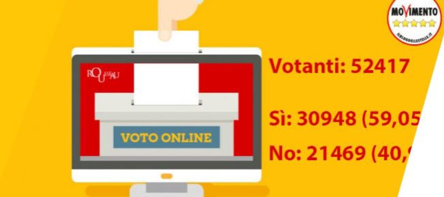 Il voto online salva Salvini e spacca i 5 Stelle