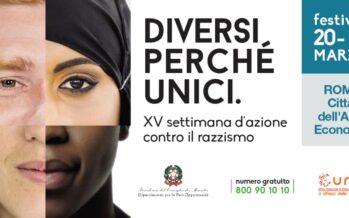 Razzismo. Una settimana dell'UNAR contro ogni discriminazione