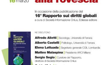 Il Rapporto sui diritti globali sabato 16 marzo all'ARCI Bellezza di Milano