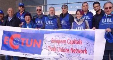 Sindacati in corteo a Bruxelles: «Svolta europea pro lavoro»
