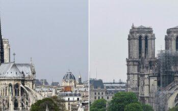 """Notre-Dame il giorno dopo: salvato il """"tesoro"""", la cattedrale «sarà ricostruita in 5 anni»"""