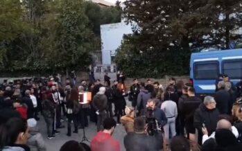Roma.Gli antifascisti manifestano a Torre Maura