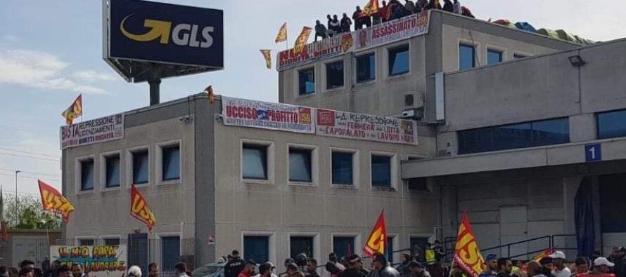 Piacenza, continua la lotta sul tetto dei 33 facchini Usb alla Gls