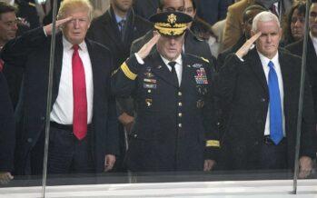 Spese militari. Trump prepara le guerre nello spazio, sanzioni a Russia ed Europa