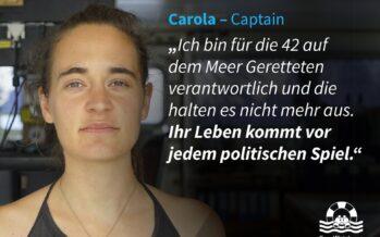 Sea Watch 3, Carola accusata di favoreggiamento dell'immigrazione