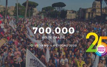 A Roma 700mila al Gay Pride: «Fieri di essere ciò che siamo»
