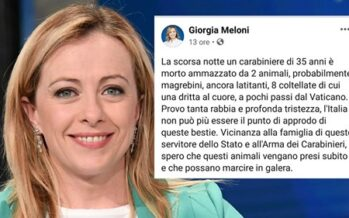 Morte del carabiniere, da Salvini e Meloni parte la caccia al nero