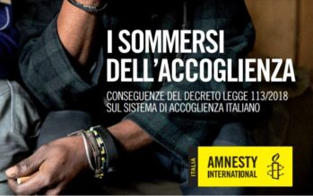 Amnesty international. Decreti sicurezza, una fabbrica di migranti irregolari
