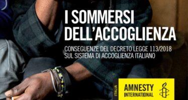Amnesty international. Decreti sicurezza, una fabbrica di migranti irregolari