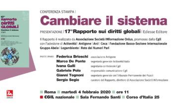 Diritti globali, il 4 febbraio presentazione a Roma 17° rapporto