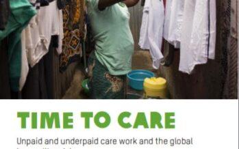 Time to care. Il nuovo rapporto Oxfam sulle diseguaglianze