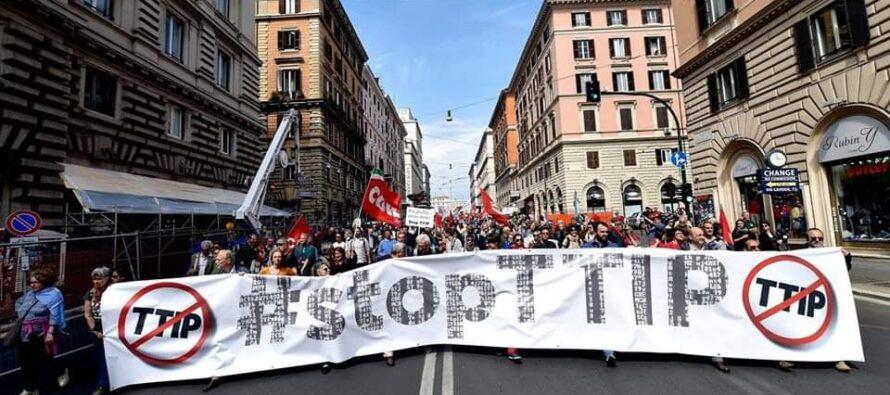 A Roma in piazza contro il TTIP che uccide l'agricoltura