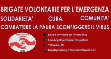 Brigate per l'emergenza, la solidarietà si autorganizza