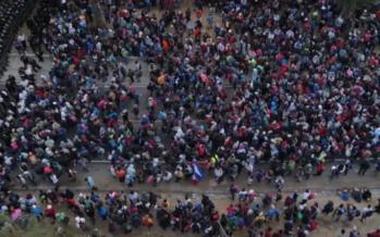 Centramerica.Contro la prima carovana migrante del 2021 un muro di manganelli