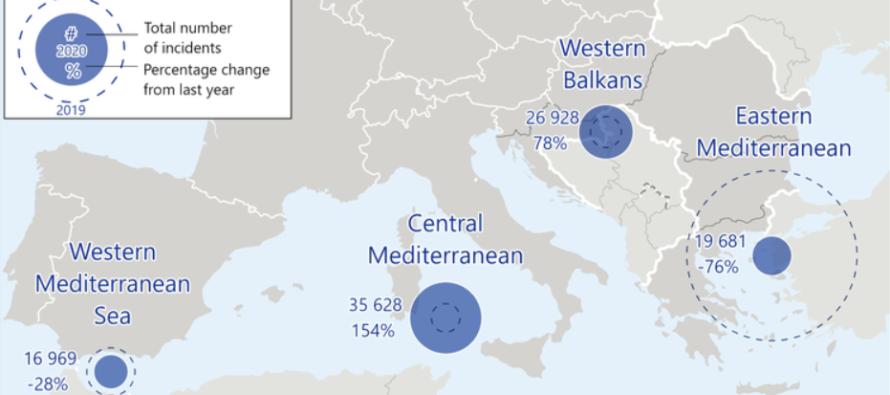 Migranti. Nel 2020 gli ingressi irregolari in Europa calati del 13% secondo Frontex
