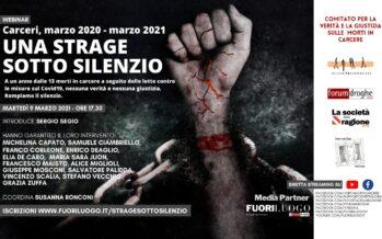 Una strage sotto silenzio: qui la diretta del dibattito 9 marzo, 17,30