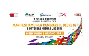 Sindacati della scuola oggi in piazza a Roma per correttivi al Decreto sostegni bis
