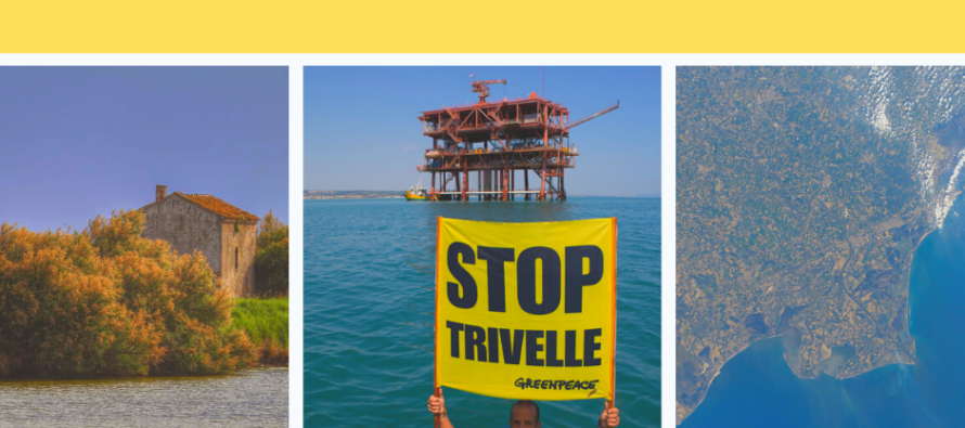 La protesta degli ambientalisti: «Fermiamo le trivelle in Adriatico»