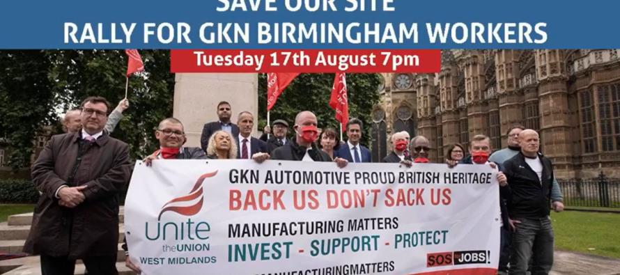 """Gkn. Al via la """"Cassa di resistenza"""", solidarietà con gli operai di Birmingham"""
