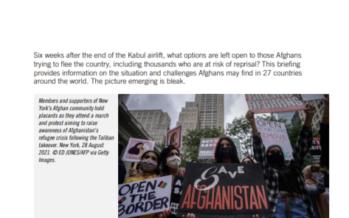 Rapporto di Amnesty: per gli afghani in fuga una corsa a ostacoli
